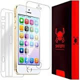 Skinomi TechSkin - Apple iPhone 5S Screen Protector + Full Body Skin Protector / Front & Back Premium HD Clear Film / Ultra High Definition Invisible and Anti-Bubble Crystal Shield with Free Lifetime Replacement Warranty - Retail Packaging