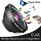 PLAY X STORE Universal 3 in 1 Clip on 0.4X Super Wide Angle Lens + 2 in 1 Fisheye Lens & Macro Lens For Mobile Phone/Notebook PC/ipad