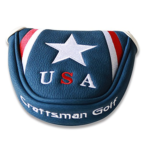 Craftsman Golf Blue USA Star Magnetic Golf Mallet Putter Cover Headcover for Scotty Cameron Taylormade Odyssey Ping Mallet Club (Futura X5 Head Cover compare prices)