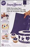 Cake Decorating Sugar Sheet-Purple