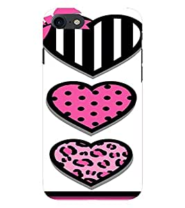 PrintVisa Cute Hearts Art 3D Hard Polycarbonate Designer Back Case Cover for Apple iPhone 7