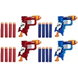 NERF N-Strike Elite Sonic Fire and Ice Jolt Team Pack of Four Blasters