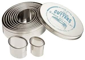 Ateco 9 Piece Plain Oval Cutter Set