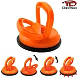 Tooluxe 4-3/4 Inch Single Head Suction Cup for Glass, Dent