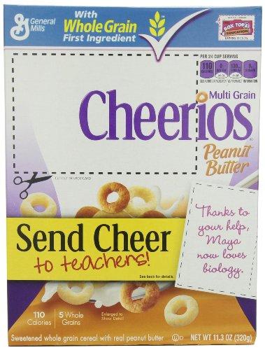 Multi Grain Cheerios Peanut Butter Cereal, 11.3