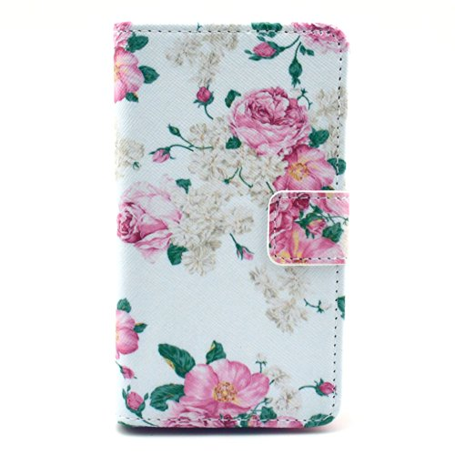 """Nokia Lumia 520 Case, [Stand Feature] Apple Nokia Lumia 520 Case Wallet [Wallet S] Slim Wallet Card Slots Case With Stand Flip Cover For Nokia Lumia 520 (2014 Latest Styles) - [Peony] (Package Includes: 1 X Screen Protector And 1X Stylus Pen Image""""Gift_So"""