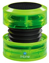 iHome Portable Speaker for MP3 Players (Green Neon)