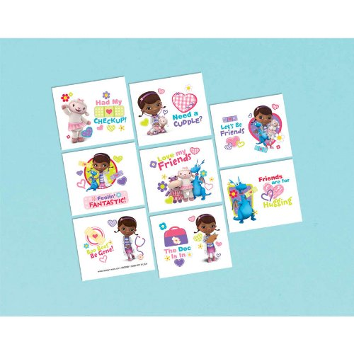 Doc McStuffins Tattoo Favors 16ct