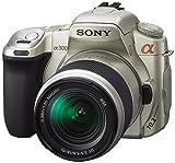 ソニー デジタル一眼レフカメラ α300 10-70レンズキット シルキーゴールド DSLRA300K/N