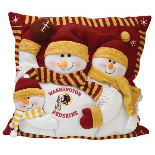 Washington Redskins Snowman Family Pillow