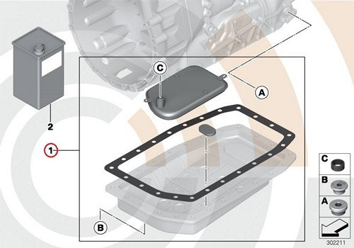 BMW Genuine Automatic Transmission Filter Kit
