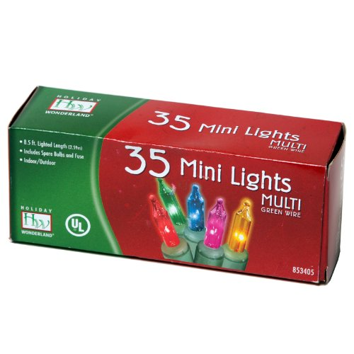 Indoor/Outdoor 35-Count Multi Color Christmas Light Set (Mini Lights 35 Count compare prices)