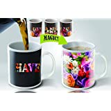 Magic Mugs | Amazing New Heat Sensitive Color Changing Coffee Mug , Good Unique Gift Idea | Flowers Cup Design