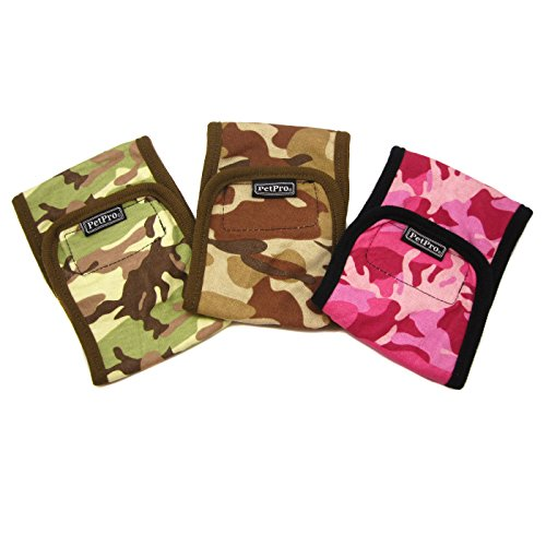 Alfie Pet By Petoga Couture - Tad Belly Band For Smaller Breeds 3-Piece Set - Colors: Hot Pink, Desert And Brown Woodland Camouflage, Size: Xl (For Boy Dogs)
