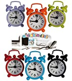 Lilac Mini Bell Alarm Clock - A fun and funky Gift Ideal