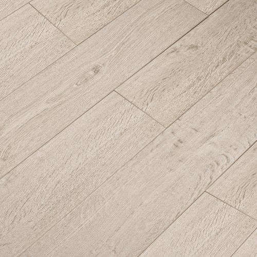 12mm Laminate Flooring V-Groove Embossed - White Oak - 1.19m²