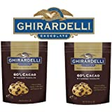 Ghiradelli Gourmet Chocolate Premium Baking Chips 60% Cacao Bittersweet Chocolate - 2 Bags of a Total of 4.50 Lb SCS