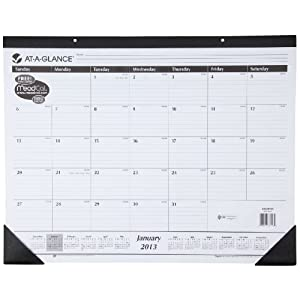 AT-A-GLANCE Recycled Desk Pad, 22 x 17 Inches, White, 2013 (SK24-00)