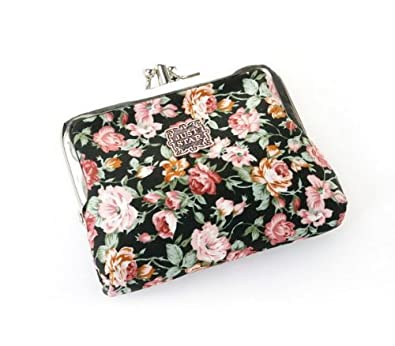 Jast Star Elegant Lady's Mini Clutch Floral Exquisite Buckle Coin Purse