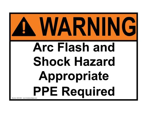 Compliancesigns Aluminum Ansi Warning Sign, 14 X 10 In. With Arc Flash Info In English, White