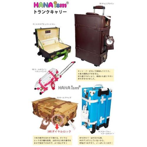 決済 ハナイズム トランクキャリーバッグ - HANA ism -S24 ビビッドピンク×ブラック/キャリーケース・スーツケース