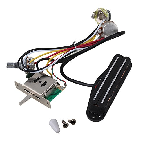 Yibuy Electric Guitar Dual-Coil Pickup Humbuck Circuit Wiring Harness Pot Switch Set (Pot Switch compare prices)