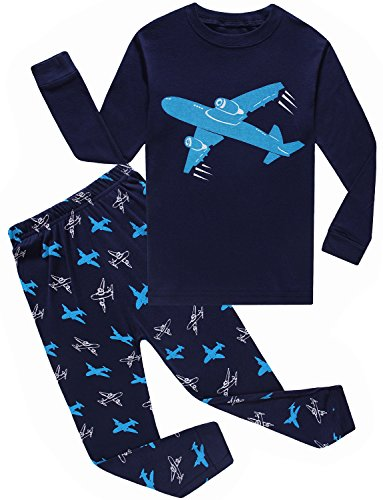 IF Pajamas Airplane Little Boys Pajamas Sets 100% Cotton Clothes Toddler Pjs Kids