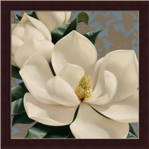 Dolce White Magnolia By Igor Levashov Shabby Cottage Wall Décor Art Print Framed Picture front-757360