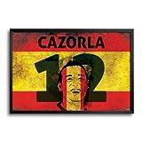 Bluegape Bluegape Santi Cazorla Spain Football FIFA World Cup 2014 Framed Poster (Transperant)