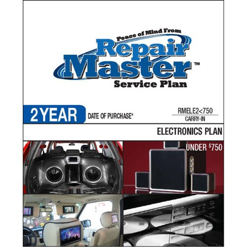 Brand New Repair Master 2-Yr Date Of Purchase Electronics Plan Designed For Home, Car And Marine Audio/Video, Photography, E-Reader And Computer Peripheral - Under $750