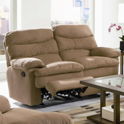 Buy Low Price AtHomeMart Reclining Microfiber Loveseat (COAS600462)