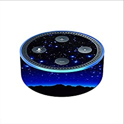 Skin Decal Vinyl Wrap for Amazon Echo Dot 2 (2nd generation) / Stars over glowing Sky