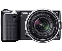 Sony NEX-5RK/B 16.1 MP Compact Interchangeable Lens Digital Camera with 18-55mm Lenses (Black)