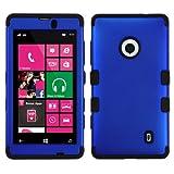 MYBAT Titanium Dark Blue/Black TUFF Hybrid Phone Protector Cover for NOKIA 521 (Lumia 521)