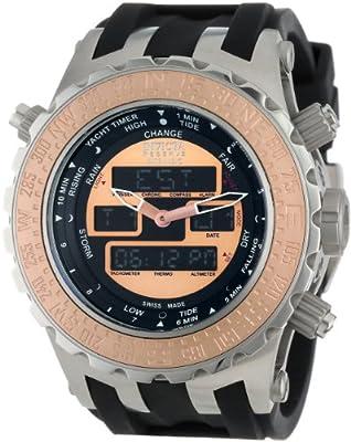Invicta Men's 12590 Subaqua Analog-Digital Swiss-Quartz Black Watch