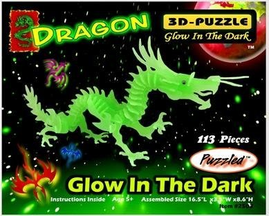 Glow In the Dark 3D Dragon Puzzle/Jigsaw Puzzle/Gift
