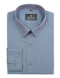Basil Men's Poly Cotton Formal Shirt (BA380PLC48FSF-40, Green, 40)