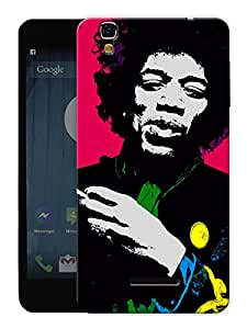 "Humor Gang Jimi Hendrix Colors In Life Printed Designer Mobile Back Cover For ""Yu Yureka"" (3D, Matte, Premium Quality Snap On Case)"