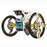 Amazon.co.jpHicolor 車型ロボット14種類に変形 ソーラーパワーで動くプラモデル ロボットキット10歳以上 想像力育成・自由研究・夏休み・工作キット・小学生・理科・ 電気工作・課題