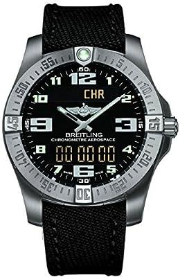 (Canvas Strap new style) Breitling Mens Aerospace Evo Titanium Watch E7936310/BC27