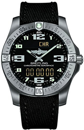 Canvas-Strap-new-style-Breitling-Mens-Aerospace-Evo-Titanium-Watch-E7936310BC27
