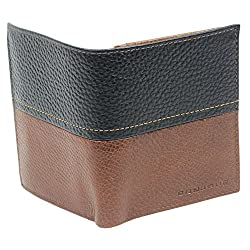 Bonjour Unique Dual Shaded Bi-Folded Men's Leather Wallet