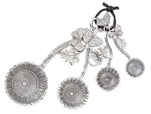 Ganz 4-Piece Measuring Spoons Set, Sunflower by Ganz