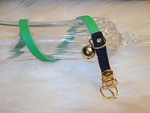 8-10 inch Signature Leather Cat Collars-Emerald Green