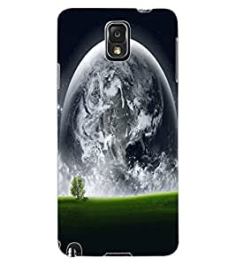 ColourCraft Moon View Design Back Case Cover for SAMSUNG GALAXY NOTE 3