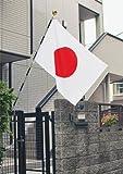 店舗・家庭用 国旗セット(C)・水をはじく撥水加工付き【テトロン 国旗70×105cm・3m6段組み立て式ポール付き】