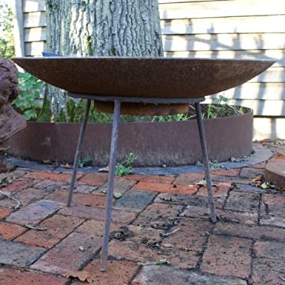 Medium Iron Standgarden Fire Pit Trivetwood Burner Accessorybrazier Legs from Round Wood Trading