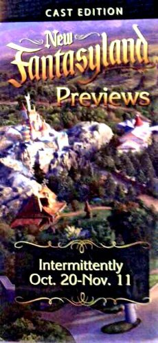 2012 Cast Member Edition of the New Fantasyland Expansion of Walt Disney World Resorts Magic Kingdom