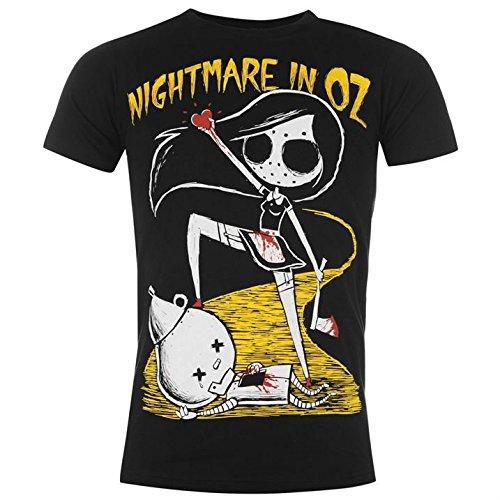 Akumu Ink -  T-shirt - Collo a U  - Maniche corte  - Uomo Nightmare in Oz Large