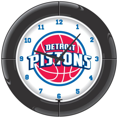 NBA Detroit Pistons Everbrite Neon Wall Clock